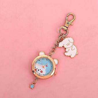 Cute Cartoon Cat Sakura Pocket Watch, Keychain Pendant, Schoolbag Decoration,