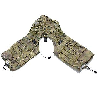 Abrigo de francotirador de disfraz militar, traje de caza de paintball de combate