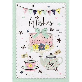 ICG Ltd Open Birthday Card Palladium Range - Cupcake