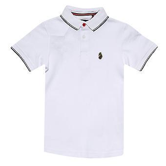Boy's Luke 1977 Junior Tip Off Polo Shirt in White