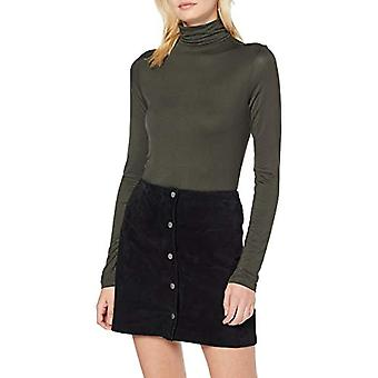PIECES Pcbillo LS Rollneck Top Noos Turtleneck, Green (Forest Night Forest Night), X-Small Woman