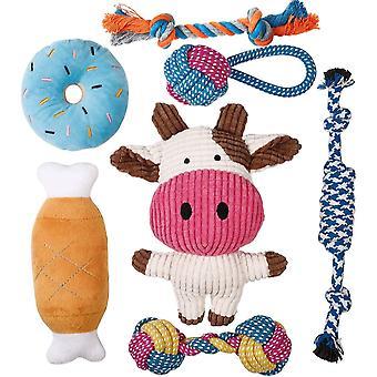 Welpenspielzeug - 7 STK Langlebiges Hundespielzeug für Welpen/kleine Hunde - Kauspielzeug und