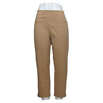 Kvinder med kontrol mave Kontrol Prime Stretch Crop Jeans Brown A306449