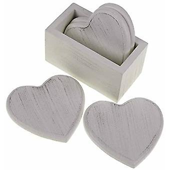 Heaven Sends Heart Wooden Coasters