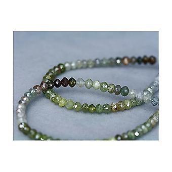 Diamond strand multicolor faceted 40,25ct