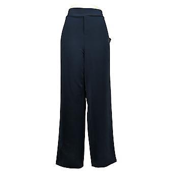 IMAN Global Chic Women's Pants Track Pull-on Navy Blue 713064