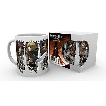 Attack On Titan Season 2 Character Montage Mug