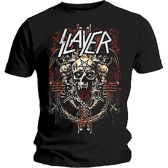 Slayer - Admat Unisex Demoníaco Camiseta Pequeña - Negro