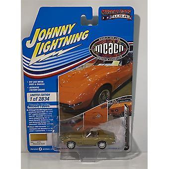 1969 Chevy Corvette ZL1 Riverside Gold Johnny Lightning 1:64 JLMC024B