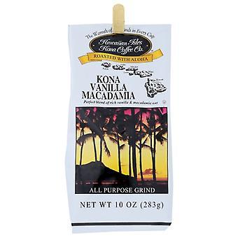 Hawaiian Kona Kaffee Vanla Macadm Grind, Fall von 6 X 10 Oz