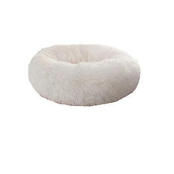Kennel runde plys reden polstret blød varm til kat seng mat pad