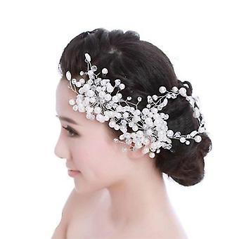 Bisutería nupcial bisutería peluquería flor cabeza de pelo perla boda Tiara