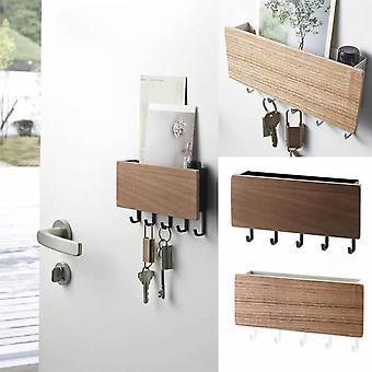 vegghengt type tre dekorative vegghylle sundries oppbevaringsboks henger arrangør nøkkel rack tre vegghylle