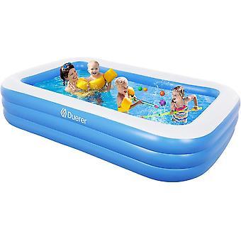 Aufblasbare Pool, Groß Familienpool, Schwimmbecken Planschbecken, Schwimmbad rechteckig für Kinder,