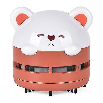 portable desktop vacuum cleaner,Automatic desktop cleaner,USB night light(Red)