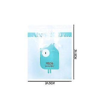 2pcs sac de nettoyage de stockage jetable pour dans le véhicule Collant mignon Cartoon Car (Bleu)