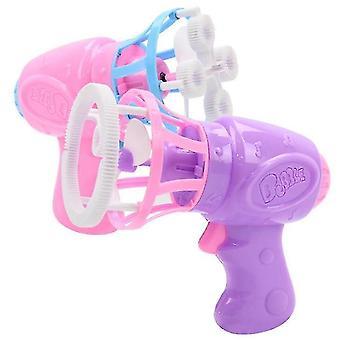 Детский электрический вентилятор и пузырчатая пушка, полностью автоматическая