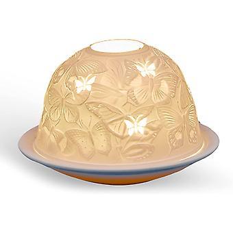 Light Glow Dome Tealight Holder, Land of the Butterflies