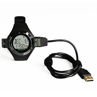 Swimovate Poolmate Live Swimming Lap Counter Tracker Watch & Data Clip Black