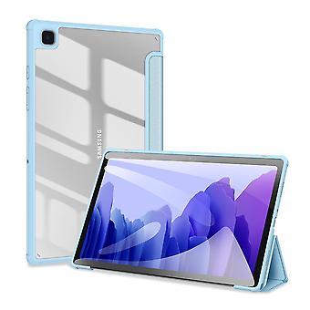 Case For Samsung Galaxy Tab A7 2020 10.4 (t500-t505),folio Trifold Stand Smart Cover With Detachable Slim Hard Shell Transparent Back Cover - Blue