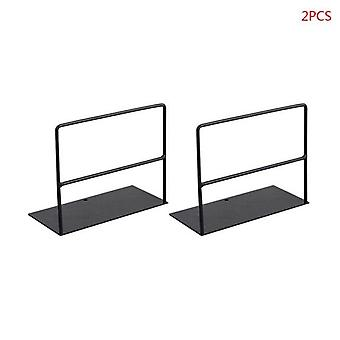 1 Pair Iron Bookends Book Support