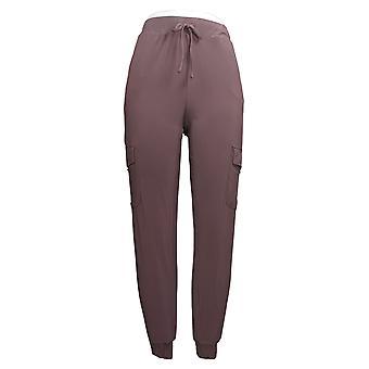 Brittany Humble Women's Pants Reg Knit Cargo Jogger Purple 754597