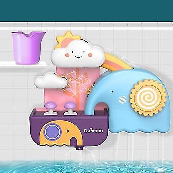 Életkor 3 + fürdő játékok csővezeték víz spray zuhany játék (B)