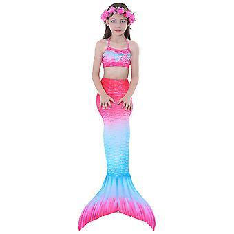 3pcs Meerjungfrau für Schwimmen Meerjungfrau Kostüm Bikini Set