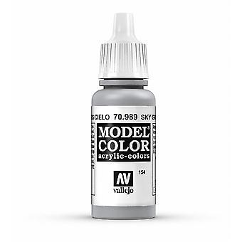 Vallejo Model Color 17ml Acrylic Paint - 989 Sky Grey