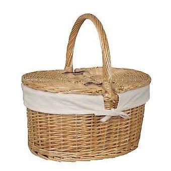 Algodão forrado cesta lustre Oval