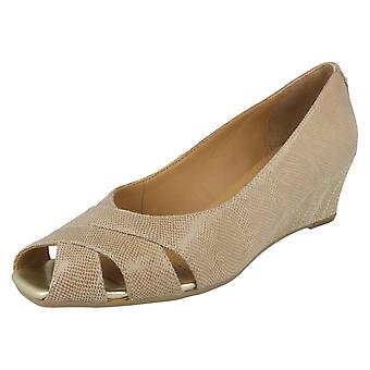 Ladies Van Dal Peep Toe Wedge Heels Paxton