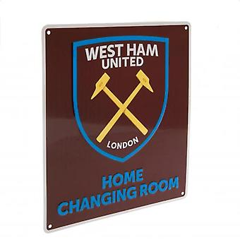 West Ham United Home Changing Room Sign