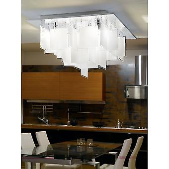 Eglo Condrada Floating Square Glass Ceiling Light