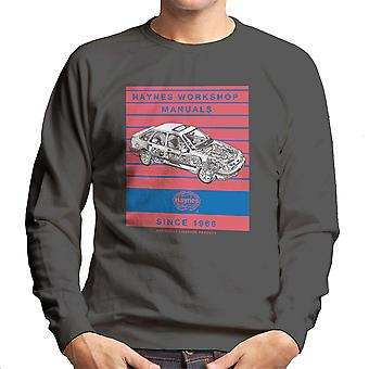 Haynes Workshop Manual 0904 Ford Sierra V6 4X4 Stripe Men's Sweatshirt