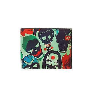 DC Benzi desenate sinucidere Squad cranii BIFOLD portofel multi color (MQ4CA0SSQ)
