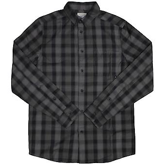Wesc Eric Check Denim Long Sleeve Shirt Black Hombre