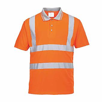 PORTWEST - Hi-Vis sicurezza Workwear Polo a manica corta Rail Track Side RIS