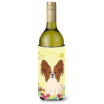 Easter Eggs Papillon Red White Wine Bottle Beverge Insulator Hugger