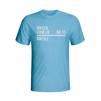 Marek Hamsik Napoli esquadrão t-shirt (céu)
