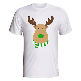 Celtic Rudolph Supporters T-shirt (white)
