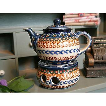 Teekanne mit Stövchen, Miniatur, Unikat 80 - BSN 1260
