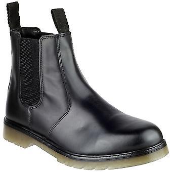 Gibt Mens Colchester Slip-On-Leder Händler Stiefel schwarz