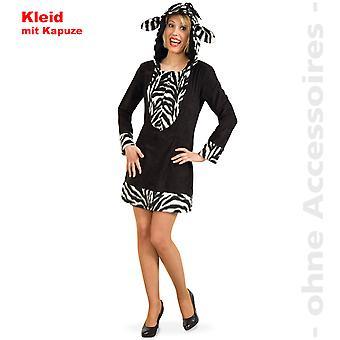 Zebra Womens costume cheval sauvage Zebra femmes robe avec costume hotte Afrique