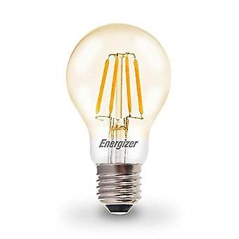 1 X Energizer 6.2W = 60W LED Filament GLS Light Bulb Lamp Vintage ES E27 Clear Edison Screw [Energy Class A+]