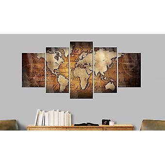 "Image on acrylic glass - Acrylic prints â€"" Bronze map I200x100"