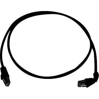Telegärtner RJ45 netwerken kabel CAT 6A S/FTP 2,00 m zwart vlamvertragend, halogeen vrij