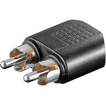 Goobay 11875 RCA / Jack Audio/Chinch Y [2 x RCA plug (fono) - 1 x Jack aansluiting 3,5 mm] zwart
