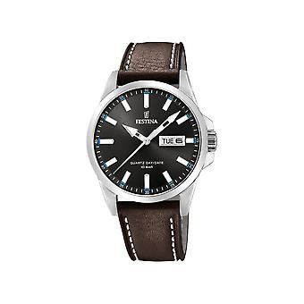 FESTINA - watches - men - F20358-1 - leather strap classic - classic