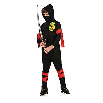 Ninja kostyme fighter Japan passer Ninjakostüm for barn 6 stykker
