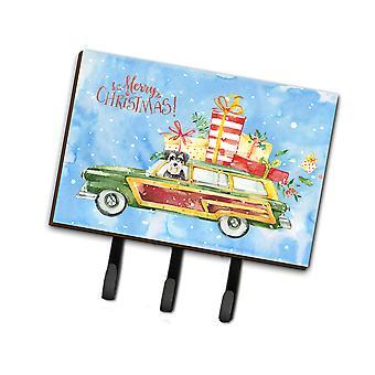 Carolines Treasures  CK2415TH68 Merry Christmas Schnauzer Leash or Key Holder